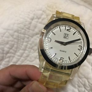 Clear yellow wish color watch by NY&C!